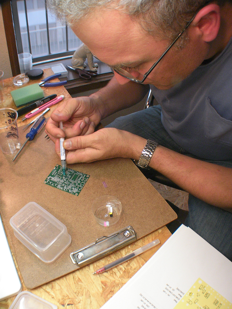 solder paste depsoit on pcb