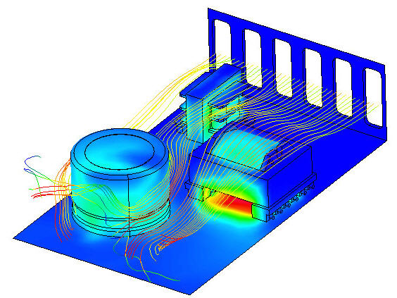 electronic-product-development-heat-flow-simulation